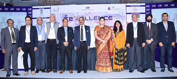Mr. Shalendra Vasudeva (CMO) Indorama Industries Limited, as Distinguished Panelist at Texellence 2018, organized by Confederation of Indian Industry (CII) – in presence of Honorable Minister of Textiles, Smt. Smriti Irani